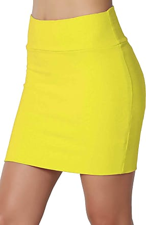 New Ladies Girls Stretch School Work Party Mini Bodycon Tube Skirt Sizes UK 6-16