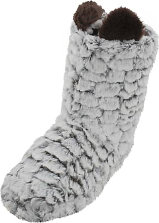 SlumberzzZ Womens Chenile Textured Plush Lined Boot Slippers