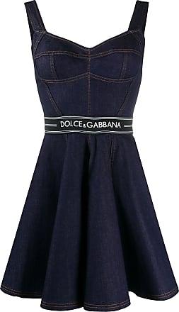 Dolce & Gabbana Vestido jeans godê - Azul