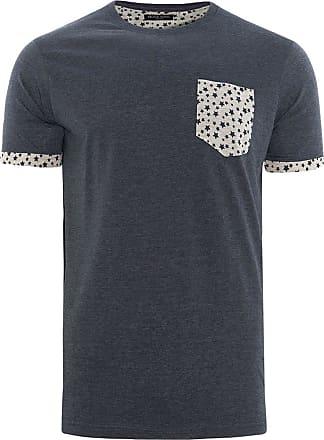 Brave Soul Mens Designer Harrier Crew Neck T Shirt New Casual Short Sleeved Top