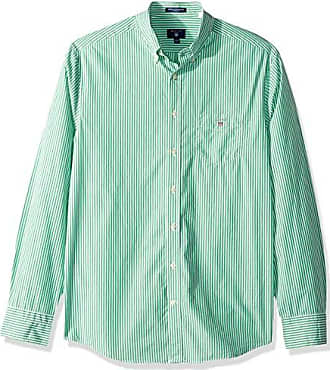 05d11d712f GANT Mens The Broadcloth Banker Stripe Regular Fit Button Down Shirt, Jelly  Green XXL