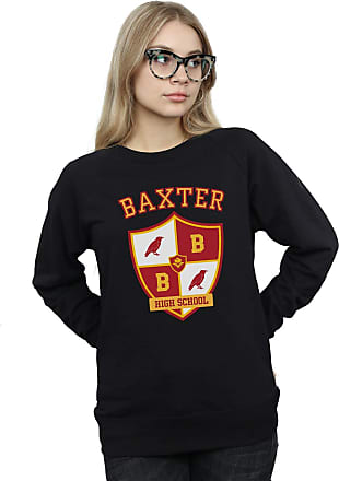 Absolute Cult The Chilling Adventures of Sabrina Womens Baxter Crest Sweatshirt Black Medium