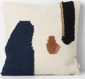 Ferm Living Loop Cushion Mount 50x50 cm - Gold/Blue/White