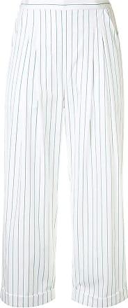 Eres Cropped-Hose mit Nadelstreifen - Weiß
