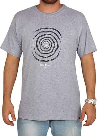 Hurley Camiseta Estampada Hurley Aspiral - Cinza - G