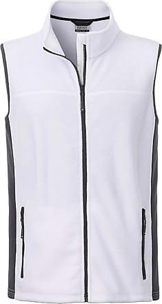 James & Nicholson JN856 Mens Workwear Fleece Vest/Gilet White/Carbon XXL