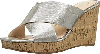 Jessica Simpson Womens SEENA Wedge Sandal, Shimmer Silver, 6.5 Medium US