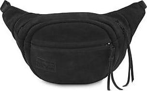 Jansport Fifth Avenue Leather Fanny Pack Waist Packs - Black