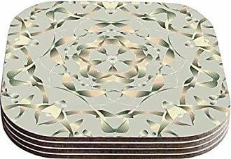 KESS InHouse Angelo CerantolaKingdom Gold Digital Coasters (Set of 4), 4 x 4, Multicolor