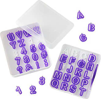 Wilton Letter and Number Fondant Cutters Set, 40-Piece