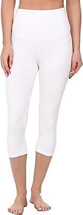 Yummie Tummie Womens Talia Capri Cotton Stretch Shapewear Legging, White, Medium