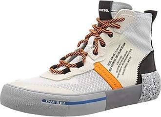 Diesel Mens S-DESE MID RC-Sneakers, 7.5 Medium US Orange