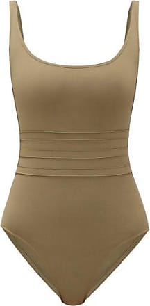 Eres Asia Panelled-front Swimsuit - Womens - Khaki