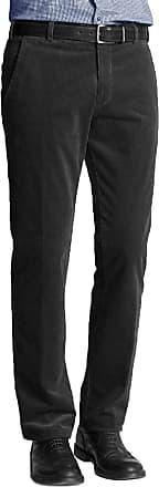 Momo & Ayat Fashions Mens Formal Smart Cord Corduroy Cotton Trousers Casual Big Plus Size Pants 30-50 (Black, Waist 36/Leg 27)