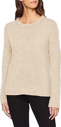 Pieces Womens Pcfortuna Ls Wool Knit Noos Jumper, White (Cloud Dancer Detail: Melange), 16 (Size: X-Large)