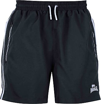 Lonsdale Mens Training Two Stripe Woven Inner Mesh Briefs Shorts (X-Large, Navy White)