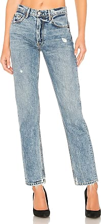 GRLFRND Helena High-Rise Straight Jean in Blue