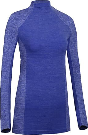 YiJee Womens Compression Elastic Fitness T-Shirt Long Sleeves Quick Dry Base Layer Blue M