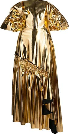 Osman Vestido de festa ombro a ombro - Dourado