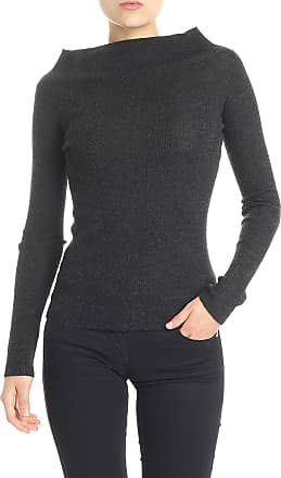 360 Cashmere Anthracite ribbed sweater