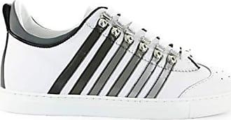 6f97b6bd3d3cc8 Dsquared2 Herren Schuhe 251 Low Sole Weiss Grau Sneaker SS 2019