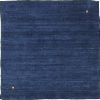 Nain Trading 151x151 Tappeto Orientale Loom Gabbeh Quadrato Blu Scuro (Lana, India, Il lavoro manuale)