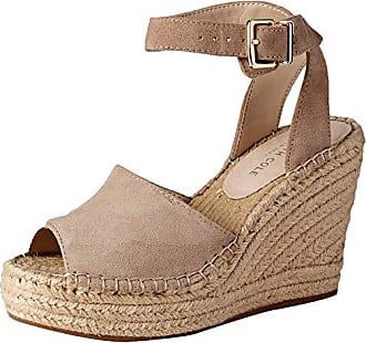 Kenneth Cole Womens Olivia Two Piece Espadrille Wedge Sandal, Almond 7 M US