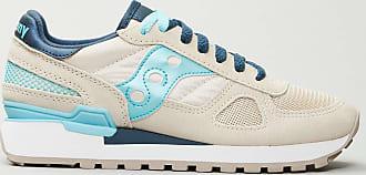 Reposi Calzature Saucony - Sneakers scamosciata grigia dettagli azzurri