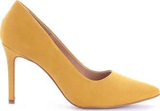 Paula Brazil Scarpin July 931-80031/931-80139 Couro Nobuck Amarelo Amarelo - 38