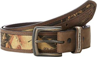 John Deere Mens 38mm Belt,Brown Camouflage,42