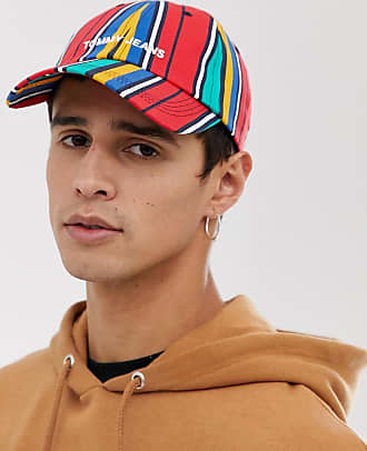 18ba9f237d Tommy Jeans baseball cap with logo in multicolour stripes