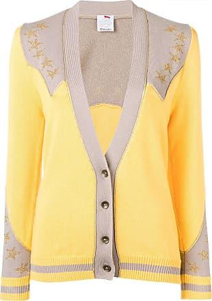 Ultra Chic star detail cardigan - Yellow