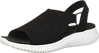 098360ea0dc Skechers Womens Ultra Flex-Engineered Knit Sling-Back Sporty Sandal Sport