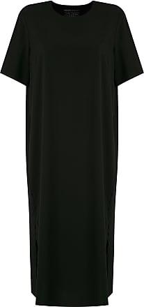 Osklen side slit T-shirt dress - Black