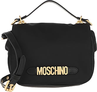 Moschino Cross Body Bags - Shoulder Bag Nylon Logo Black Fantasy Print - black - Cross Body Bags for ladies