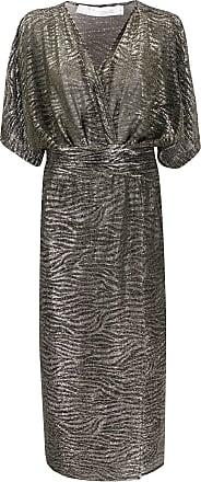 Iro metallic stripe dress - Grey