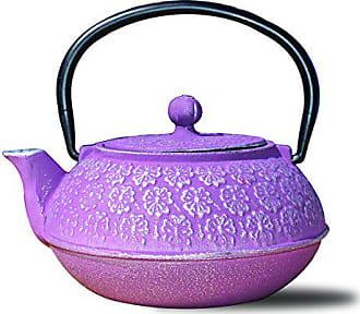 Old Dutch International 1032PM Cast Iron Cherry Blossom Teapot, 22 oz, Plum