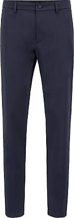 BOSS Slim-fit pants in water-repellent stretch fabric