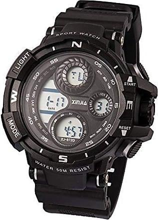 Xinjia Relogio Masculino Prova dagua xinjia 872d militar tatico cronometro alarme digital preto (Preto)