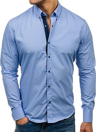 BOLF Mens Shirts Long Sleeve Casual Slim Fit Smart Formal Plain 2B2 Button Down