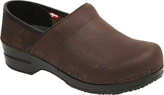 Sanita Womens Professional Albertine Clog in Brown WR Oil Leather