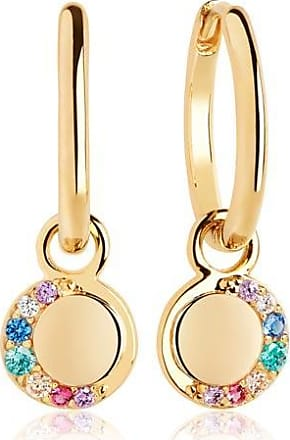 Sif Jakobs Jewellery Ohrringe Portofino Pendant Earrings - 18K vergoldet mit bunten Zirkonia