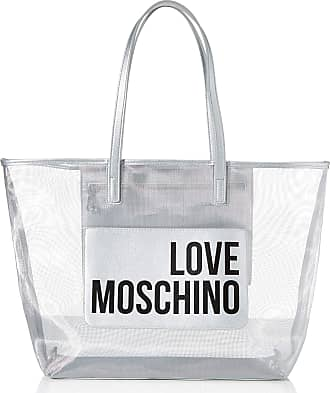Love Moschino Jc4245pp0a Womens Tote, Silver (Silver Fabric), 48x32x12 Centimeters (W x H x L)