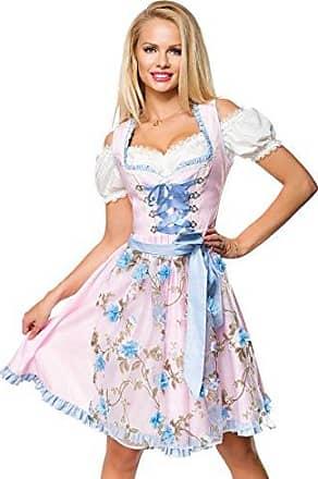 Dirndline Dirndl mit Blumensch/ürze Mittellanges Kleid gr/ün//pink