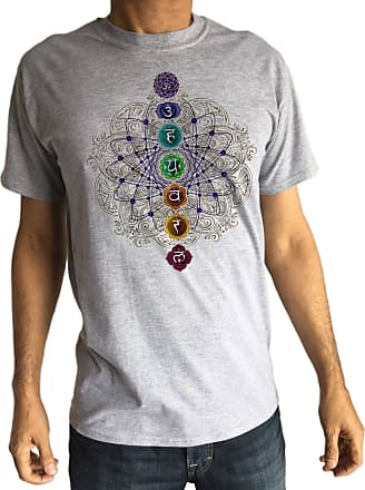 Irony Mens T-Shirt Chakra Symbol, Buddhism, Meditation, Hinduism Print TS1530 Grey
