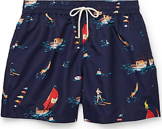 Polo Ralph Lauren Mid-length Printed Swim Shorts - Navy