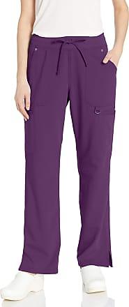 Dickies Womens Mid Rise Rib Knit Waistband Pant Medical Scrubs, Eggplant, Medium