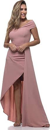 Clara Arruda Vestido Longo Clara Arruda Ombro Ombro 50436 - G - Rose