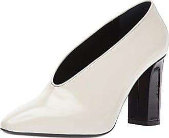 Via Spiga Womens Baran Block Heel Pump, Bone Leather, 5.5 M US
