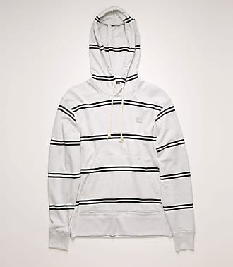 Acne Studios FA-UX-SWEA000035 Pale Grey Melange Striped hooded sweatshirt